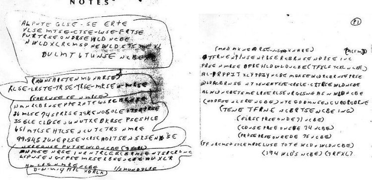 Ricky McCormick's encrypted notes